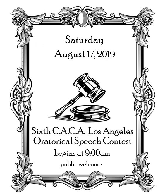 C.A.C.A. Los Angeles Oratorical Speech Contest